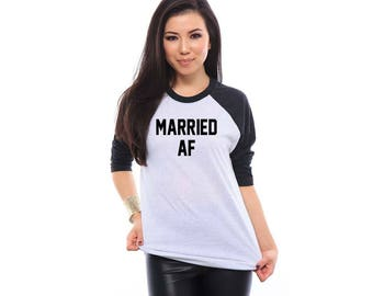 Married AF Honeymoon Shirts Just Married Honeymoon Gifts Married AF Shirts Hubby Wifey Shirts Wedding Shirts Wedding Gift Anniversary Gift