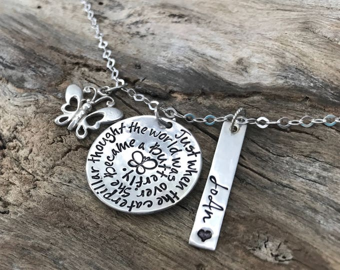 Mother Daughter Butterfly Necklace | Sterling Silver | Meaningful necklace | New beginnings necklace | Graduation gift | Daughter gift