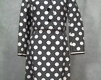 1960s Dress Designer 2 Piece  Shannon Rodgers for Jerry Silverman Size Small
