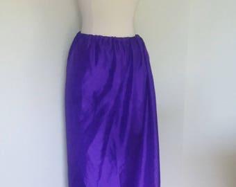 M, L, XL, Xxl Classic Silk Skirt in Purple