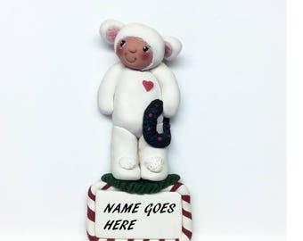 Disontinued Handmade Lamb Ornament  Last One on Sale