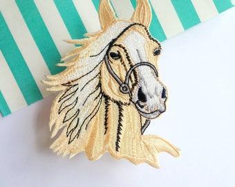 Fabric patch sew on Horse Pony Gymkhana iron on Patchgame