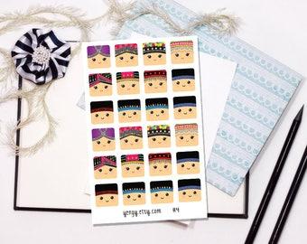 H4 Hmongys - 4x6 Glossy Sticker Sheet