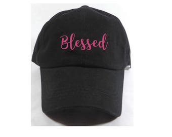 Blessed Embroidered Adjustable Dad Baseball Cap Twill 6 Panel Hat - Baseball Cap