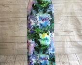 Large Floral Print Purple Blue Green Maxi Skirt **SALE**