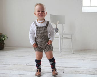 Baby boy wool romper Wool overall Baby boy wool shorts Wool Diaper cover Baby boy clothes 1st birthday suit Baby winter romper