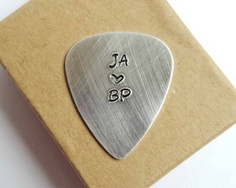 Inititals | Custom Guitar Picks | Anniversary Gift for husband | Gift for boyfriend | Gifts under 20