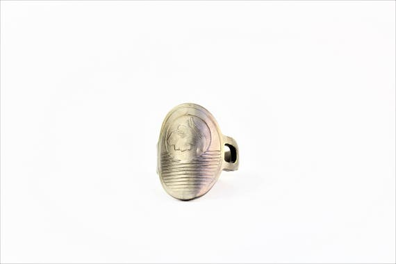 Ring made from a 1950's MERCURY Car Key - Size 9 - 1950's Mercury - Jewelry - Vintage - Padlock Key - Powder Coated Brass - Roman God