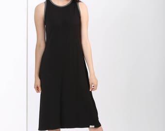 BLACK Summer Dress, Sleeveless Short Dress, Little Black Dress, Midi Summer Dress, A line Dress, Tank Dress, Short Dress Summer, Casual