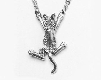 "Spoon Necklace: ""Cat"" by Silver Spoon Jewelry"