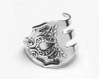 """Spoon Ring: """"Fork Laureatte"""" by Silver Spoon Jewelry"""
