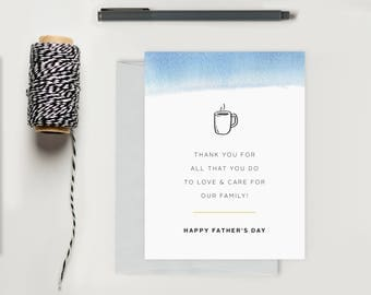 Father's Day Card; Thank You for all you do Fathers Day Greeting Card