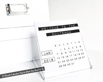 Funny 2018 Desk Calendar, Bitchy Quotes, Sarcastic, Rude, Sassy, Coworker Gift, Uncensored Office Humor, Desktop Accessories, Fourth Edition