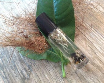 Rosemary By Your Garden Gate Perfume Oil with crystal infusion