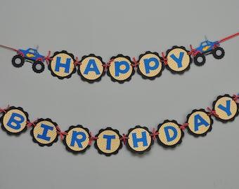 Monster Truck Birthday Banner Monster Truck Birthday Party