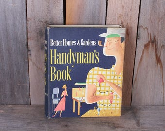 1957 Better Homes and Gardens Handyman's Book DIY Guide Mid Century Illustrated Binder