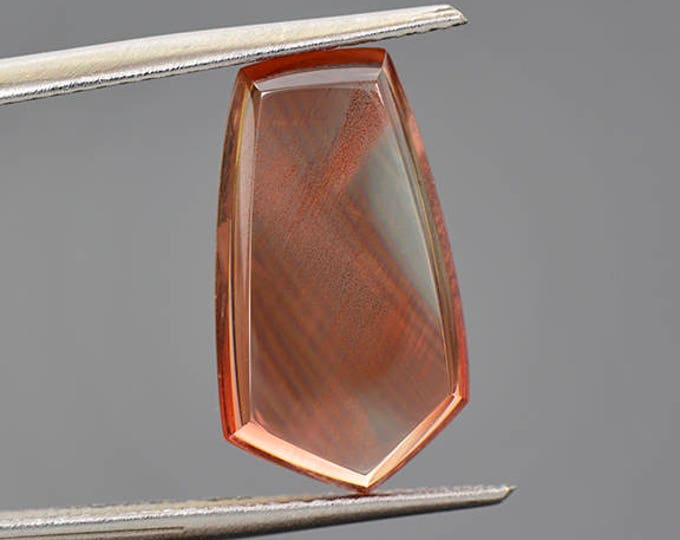 SALE EVENT! Excellent Red Sunstone Pendulum Cabochon with Copper Shiller 5.06 cts.