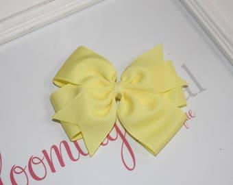 """Yellow Large 4"""" Pinwheel Bow"""
