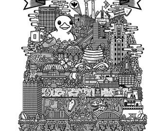 Pittsburgh Screen Print (Limited Edition of 200)