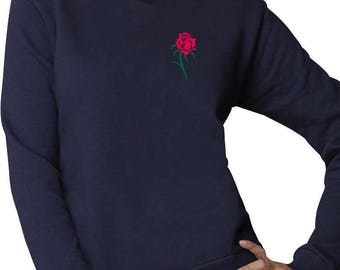 Rose Pocket Size Summer Novelty Women Sweatshirt
