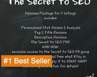 Etsy SEO help for 5 listings, SEO Assistance, Tag Revision, Title Revision, Stat Analysis, Description Revision, Etsy Tag Help, Etsy Help