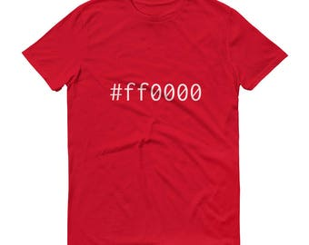 Red #ff0000 Mens Short-Sleeve T-Shirt Graphic Design Code Shirt