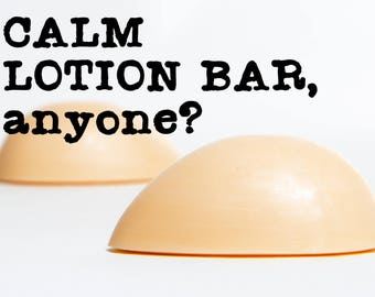 Solid Lotion Bar - Calm Scent - Lotion Bar - Egg Shaped - Gift for Her