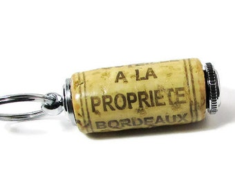 Mis en Bouteille Cork Key Ring/ Pill Holder
