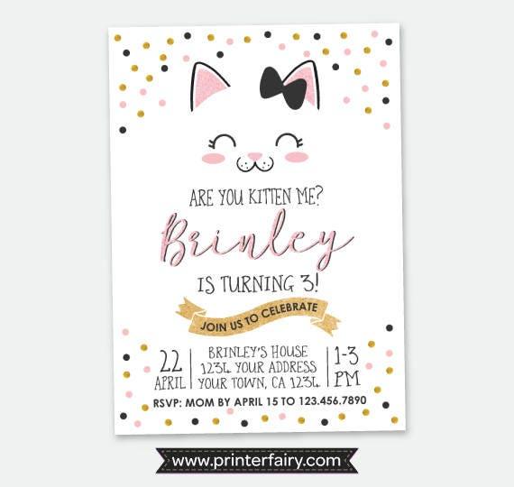 Kitty birthday invitation kitty cat birthday party cat invitation il570xn filmwisefo