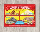 Custom Animal Cracker Invitation – Children's Carnival Birthday Party- Circus Birthday - Circus Theme Party - Barnum Animal Cookie