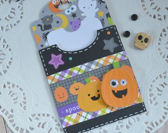 Halloween Gift Card Holder, Halloween Gift Tag, Halloween Gift, Halloween Birthday Gift, Halloween Wedding Gift Card, Trick or Treat Gift