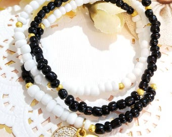 Beaded Bracelet Set, Minimalist Bracelet, Believe Bracelet, Bead Bracelets, Handmade, Custom, Beaded Jewelry, Women's Jewelry