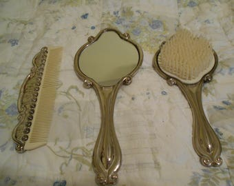 1960's Ladies Silver Plated Vanity Set by International Silver Company