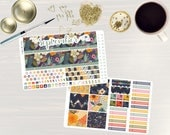 Secret Garden Monthly Sticker Set - Monthly Planner Stickers, Monthly Planner Kit, September Monthly Kit, use with ERIN CONDREN LifePlanner