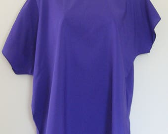 Oversized purple top, 1980s vintage blouse, Lauren Lee, made in USA, size medium/large
