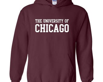 University of Chicago Phoenix Basic Block Hoodie - Maroon