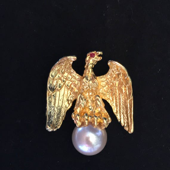 Ann Hand Liberty Eagle Brooch, Celebrity Political Favorite