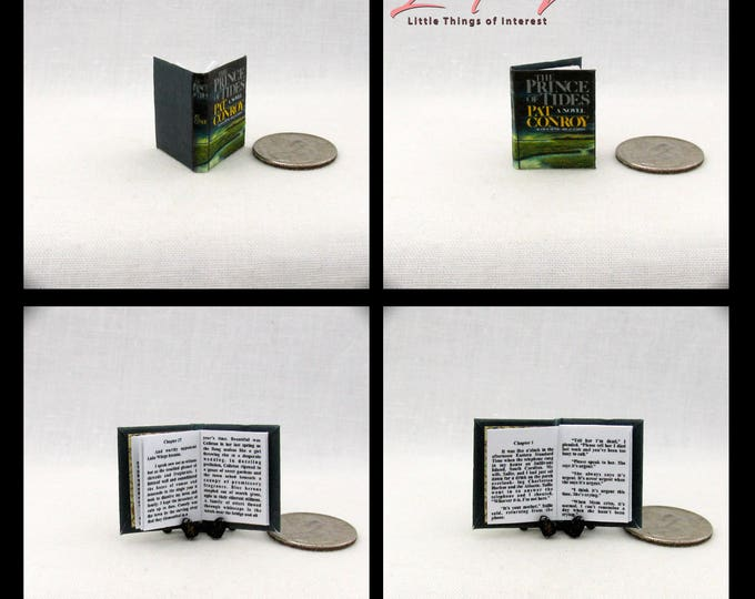 THE PRINCE Of TIDES Miniature Book Dollhouse 1:12 Scale Readable Book Pat Conroy