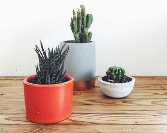 Little Red Ceramic Planter