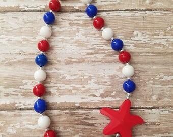 Patriotic Star Mini Chunky Necklace