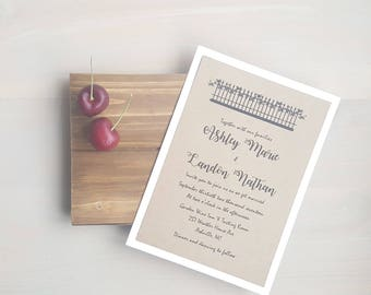Wedding Invitations, Country Cottage Wedding, Country Wedding