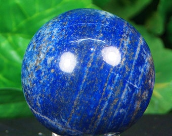 Lapis lazuli sphere hand carved  hand polished mineral specimen  220 Grams from Afghanistan