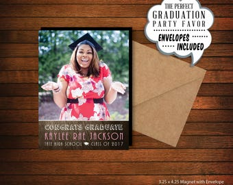 Graduation Photo Magnet  |  Personalized Party Favor > Envelopes Included > FREE SHIPPING