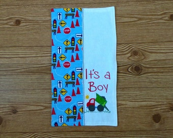 Flannel Burp Cloths/Handmade Burp Cloth Flannel/Construction/Signal