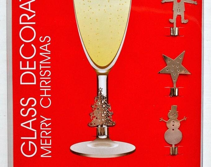 Swedish Christmas Wine Glass Marker Set Scandinavian Modern