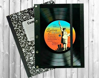 Vinyl Record Art,  Supertramp vinyl record, Supertramp Record cover, Composition Cover, record notebook, Music gift, Music Journal,J203