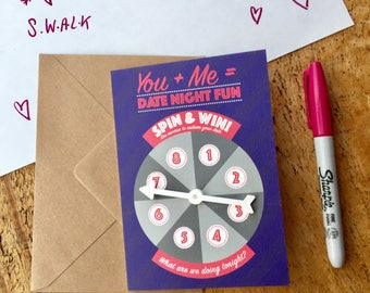 Funny Birthday card, anniversary card, for boyfriend, Date Night ideas, love card, card for him, for girlfriend, for husband