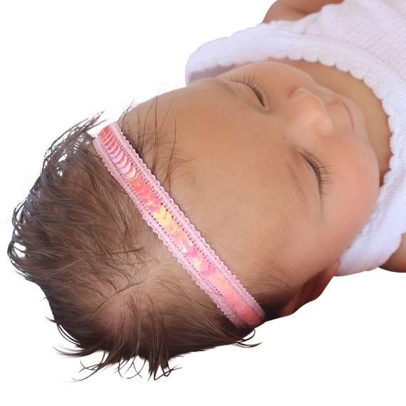 pink headband, Pink Headband Baby, Sequin Headbands, Baby Headband, Pink Baby Headband, Toddler Headband, Headbands for Babies