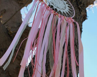 Dream catcher/Pink and gold dream catcher/Pink and gold baby shower/Nursery decor/Baby girl nursery/Pink dream catcher/Baby shower gift