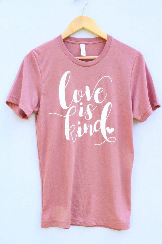 Love is Kind Tee - blush pink